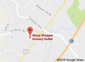 Sharp Shopper Grocery Outlet Harrisonburg Store Map
