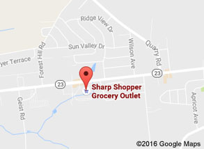 Sharp Shopper Grocery Outlet Leola Store Map
