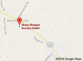 Sharp Shopper Grocery Outlet Ephrata Store (and Warehouse) Map