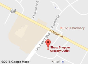 Sharp Shopper Grocery Outlet Waynesboro Store Map