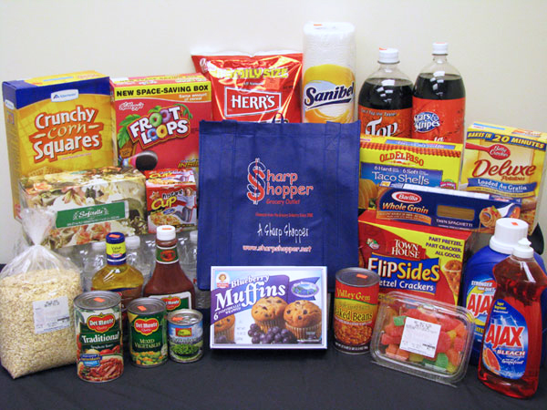 example groceries at Sharp Shopper Grocery Outlet